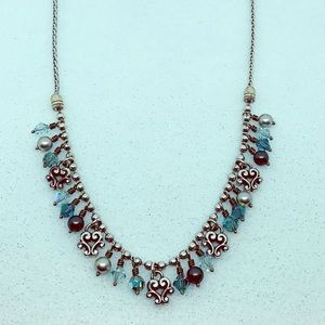 Brighton Cannes Necklace with Crystals Blue